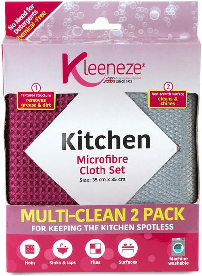 Pack of 2 Kleeneze Microfibre Kitchen Cloths