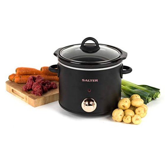 Salter EK2623RG Rose Gold Slow Cooker with Three Heat Settings | 3.5 litres | One Pot Solution | Perfect for Stews, Soups and Casseroles