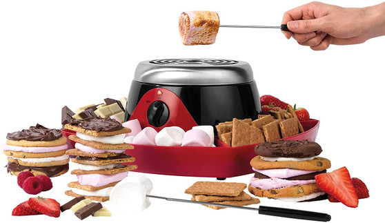 Giles & Posner 260W Electric S'More Maker Machine | Marshmallow Roasting & Toasting with 4 Forks (EK4550G)