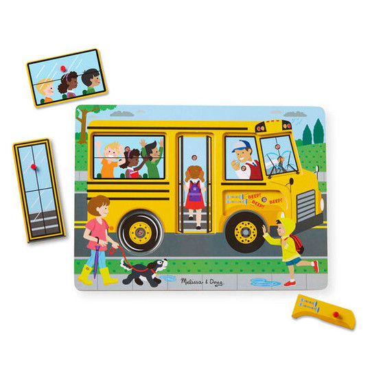 The Wheels on the Bus Wooden Sound Puzzle
