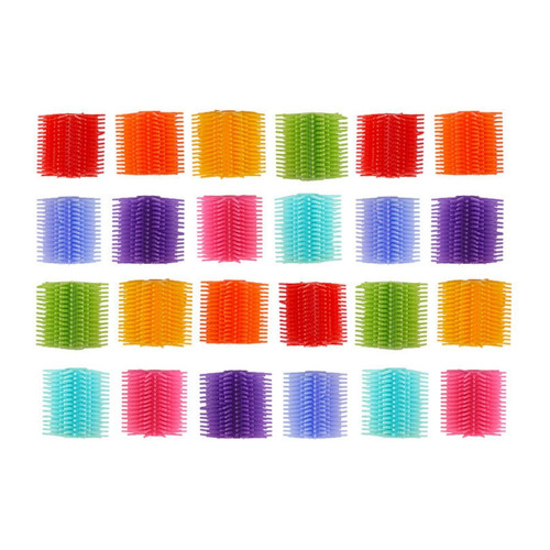 This large pack of toppers is perfect for special education classrooms, occupational therapists, or just for everyday use with children. Studies have shown dramatic increases in test scores when kids are allowed to fidget while working, making these quiet alternatives to other fidget toys the perfect way to bring calm to the classroom!