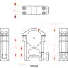 "Badger Ordnance 30mm Scope Ring - Ultra High 1.4"", also substitute for KAC 30mm"