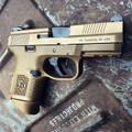 FN FNS-9C Compact 9mm pistol, FDE