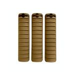 Knights Armament KAC 11-rib rail covers in FDE for M110 rilfe