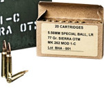 Black Hills Ammo: Mk262 Mod1 military package 5.56mm 77 gr OTM