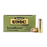 Remington Ammo: LeadLess UMC 9mm 115 gr flat nose, box of 50