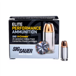 Sig 9MM, 115 gr, Elite V-Crown, JHP, box of 20