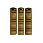 Knights Armament KAC 11-rib rail covers in FDE USED