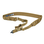 Blue Force Gear UDC Single-Point Padded Bungee Sling with push button in Coyote Brown