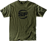 Surfire T-Shirt button logo Olive Drab Green ODG