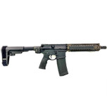 Mk18 Folding Daniel Defense Pistol in FDE with SB-Tactical brace and Law Tactical folder in FDE