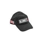Barrett Rifles ripstock hat with Ronnie Barrett signature and American Flag hat