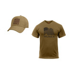 'MURICA T-Shirt and Hat COMBO in Coyote from Rothco