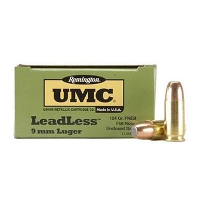 Remington Ammo: LeadLess UMC 9mm 115 gr flat nose, box of 50