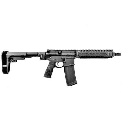 Mk18 Folding Daniel Defense Pistol in BLACK with SB-Tactical brace and Law Tactical folder