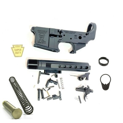 Geissele Super Duty Lower Receiver Build Kit - mil spec Black