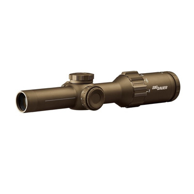Sig Sauer TANGO6T 1-6x24 LPVO US Army Tactical SFP CQB scope in FDE with Hellfire M855A1 ret.