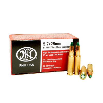 FN5.7x28mm lead free ammunition SS198FL - LEO and mil only