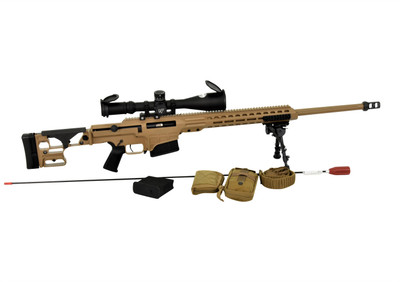 Barrett Mk22 MRAD ASR 300 Norma military sniper rifle submitted prototype shown with Nightforce ATACR 7-35x riflescope