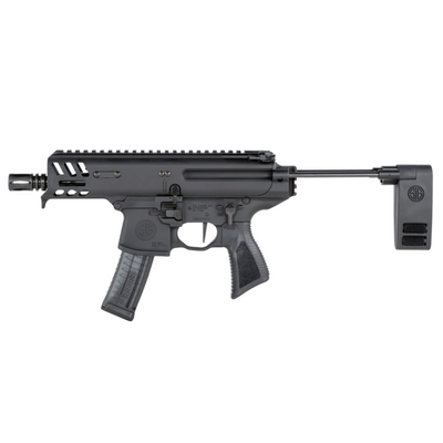 Sig Sauer MPX Copperhead 9mm PDW pistol with collapsible brace - black