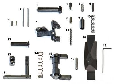 Geissele Ultra Duty Lower Parts Kit in Black