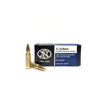 FN 5.7x28mm lead free ammunition SS195FL