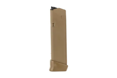 Glock 19 rnd Magazine for G17 and G19X, Coyote Tan