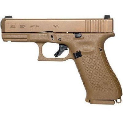 Glock G19X 9mm pistol FDE military compact - compliant 10 round version