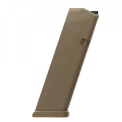 Glock 10 rnd compliant magazine for G17 and G19X, Coyote Tan
