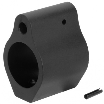 Low Profile mil-spec .750 anodized black aluminum gas block