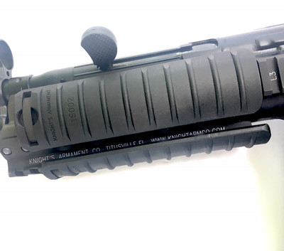Knights Armament KAC MP5 RAS rail adapter with 11-ribbed covers