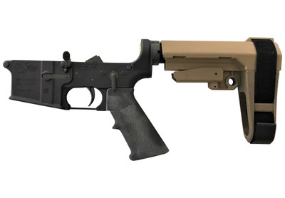Colt M4 Pistol lower with SB Tactical Brace exclusive at Charlies Custom Clones