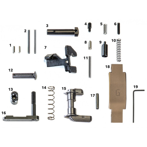 Geissele Super Duty Lower Parts Kit in DDC