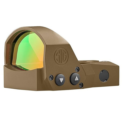 Sig Romeo 1 Pro 6 MOA steel shrouded red dot holographic sight in FDE for M17