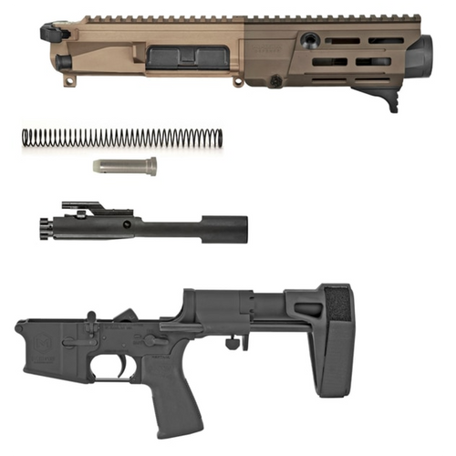Maxium FDE black arid pistol build kit