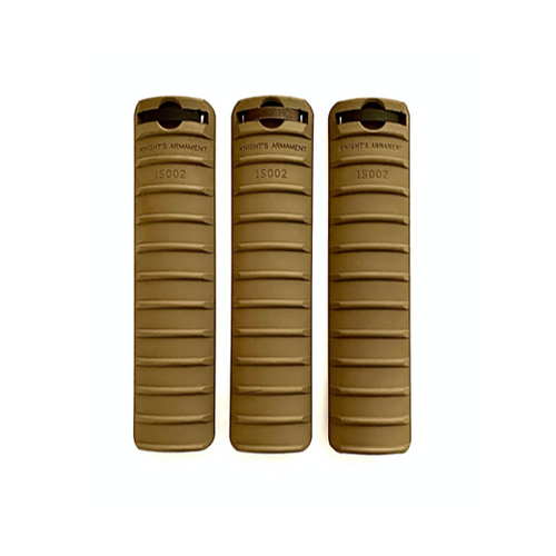 Knights Armament KAC 11-rib rail covers in FDE for M110 rilfe