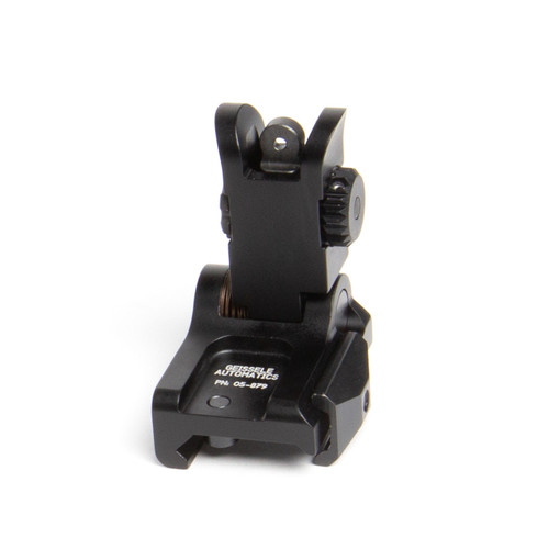 Geissele folding back-up sights, Rear BUIS - Black