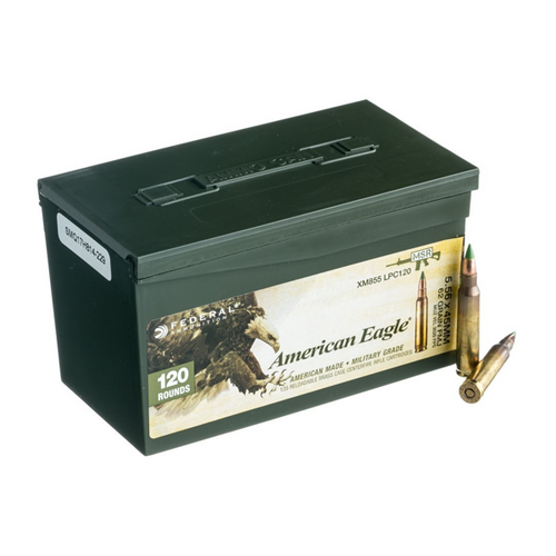 Federal Ammo: Eagle military grade XM855 62 gr FMJ case of 120 rnds