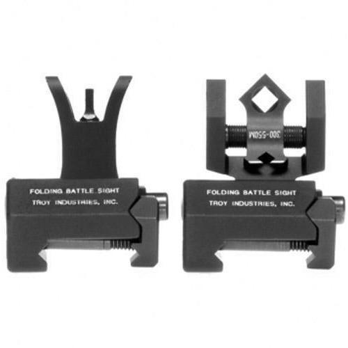 Troy Micro M4 Front & DOA Rear Folding Sights BUIS - FDE