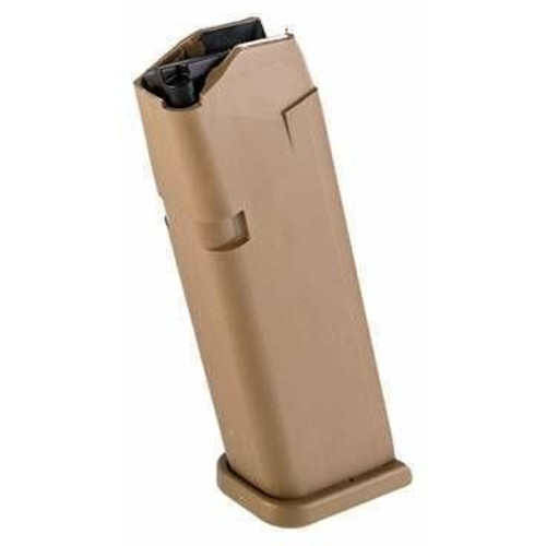 Glock Gen5 9mm 17 rnd Magazine for G17 and G19X, Coyote Tan