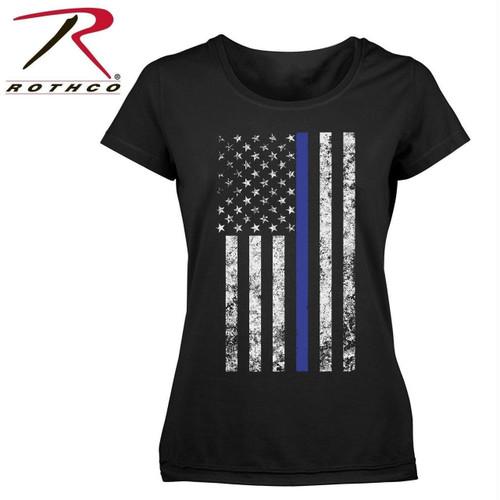 Rothco Women's Thin Blue Line Longer T-Shirt 1