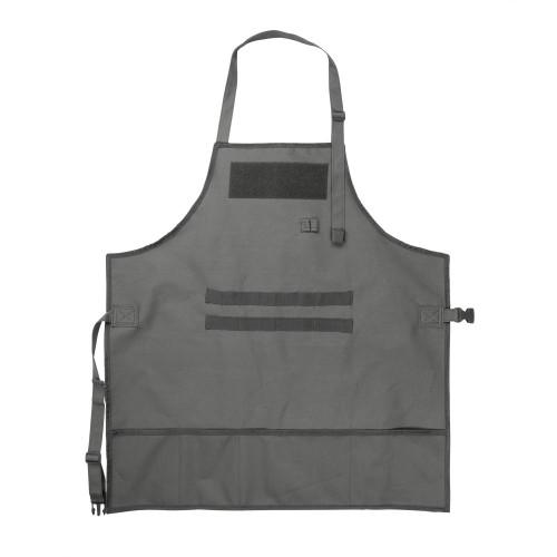 Gray shop apron