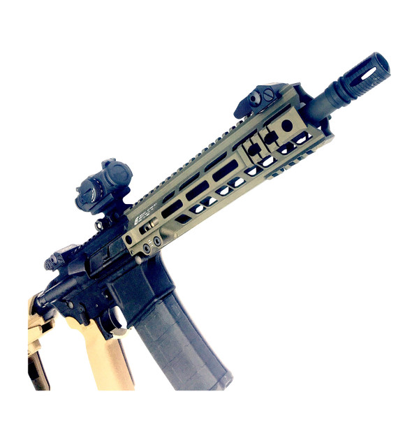 New FbI H.R.T. upper its finally here this is it! Yes 11.5 colt factory barrel, A2 flash hider, The one of 2 Colt pistol in the industry! The first model was a hit! Don't forget the Geissele Mk4 rail thats light and has mounted at 3,6,9 o'clock 1918 rails and M-lok combo make this look mean,  Almost like the A-10 wart hog, this pistol is the A-10 of pistols. To me at least, To each his own I say. This pistol want to own specially in comp shooter.