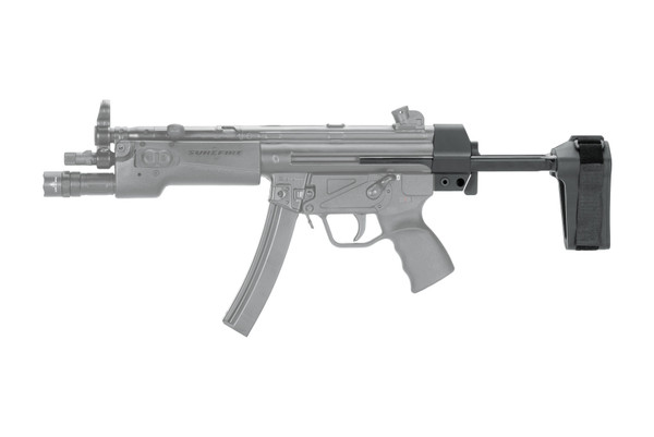 Collapsible pistol brace for MP5