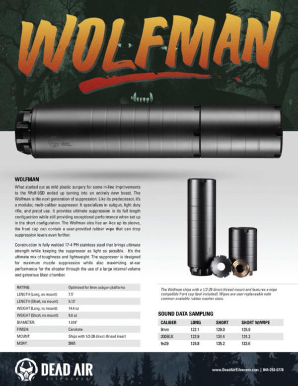 Dead Air Wolfman Modular Sub-Gun Suppressor