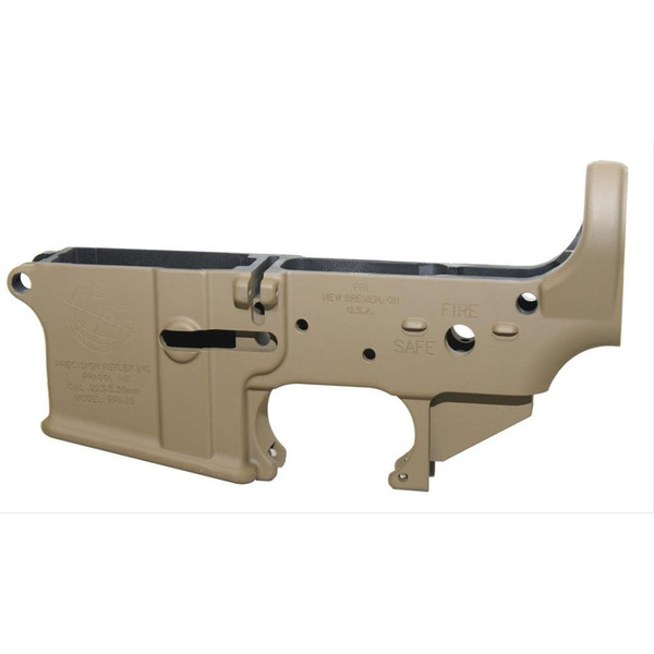 PRI Stripped AR15 Forged Mil-Spec Lower Receiver, FDE