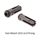 Surefire 4-prong Fast Attach 215-A flash hider