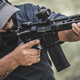 300 BLK PDW with Magpul 300 BLK dedicated magazine 30 round - action shot