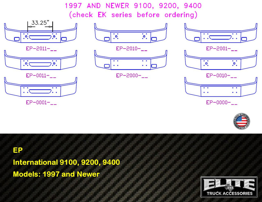 International Bumper 9100, 9200, 9400 1997 and Newer