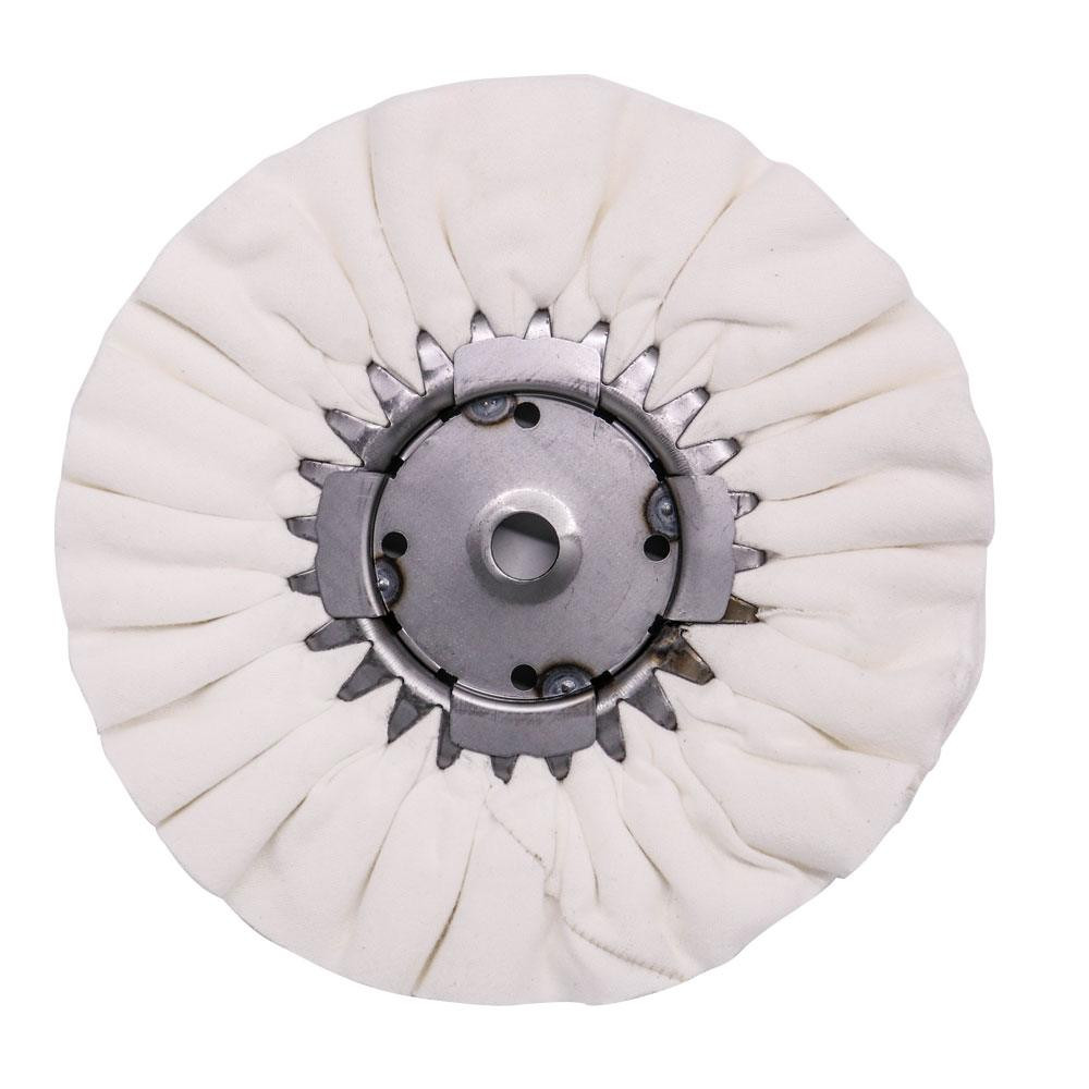"9"" White Airway Buffing Wheel with Center Plate"